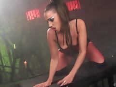 Vampire hotties get crazy and fuck in a smoky nightclub