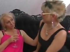 Hairy Granny, Fingering, Group, Hairy, Kissing, Lesbian