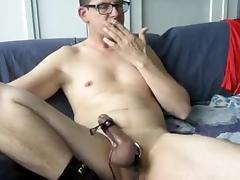 Grass and relax to edge and cum