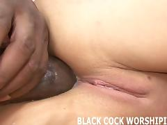 Two black cocks are going to tear me apart