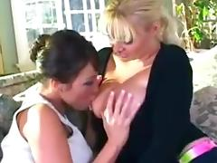 Old mother I'd like to fuck Plays With Young Big Breasted Lesbian