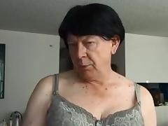 Naughty Gigi trying fresh wigs and deep throating Mr. Big