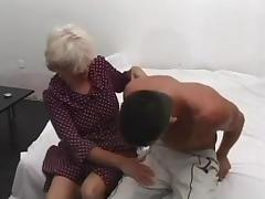 Blond Granny Loves Taking Cock In The Ass
