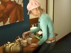 Blond can't live without her coffee fucking recent