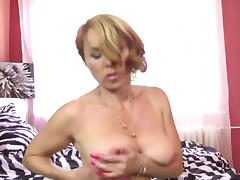 Mature mother with perfect body and hungry holes