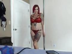 tattted cutie does DP with sex machine