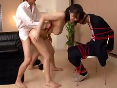Cuckold Asian stud made to watch as hot wife gets gang banged hardcore