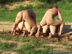 Mom and Boy, 18 19 Teens, Babe, Mature, Old, Outdoor