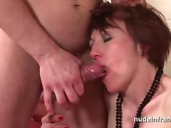 Naughty french housewife hard anal pounded with cum 2 mouth