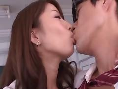 Blouses and skirts are sexy on Japanese fuck slut Alice Miyuki
