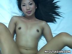 Very beautiful Asian bitch gets fucked with a small cock