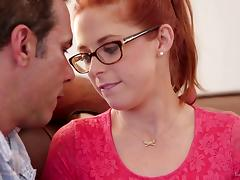 Redhead, Blonde, Couple, Cute, Fucking, Glasses