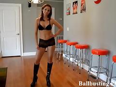 Ballbusting, BDSM, Femdom, Humiliation, POV, Spanking