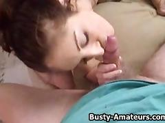Busty brunette Kurious on her first POV