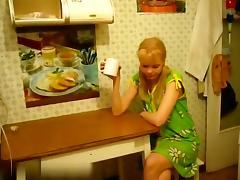 Petite Russian blonde rammed
