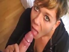 Amateur slut suck off & swallow compilation