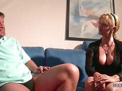 Big Tit MILF not mother Seduce to Fuck by Big Dick Step-Son