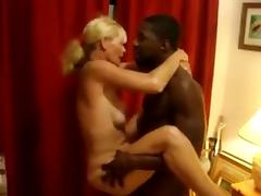 Black cum deep inside of white wife
