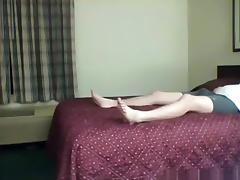 Brunette sucks her bf's cock, gets missionary fucked and has doggystyle sex.
