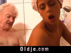 Bathing, Bath, Bathing, Bathroom, Fucking, Grandpa