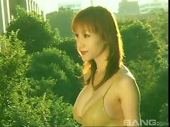 Japanese MILF with sexy big tits showers after being fucked roughly