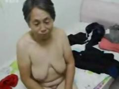 Old, Amateur, Asian, Clothed, Granny, Mature