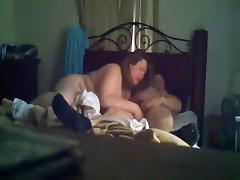 Fat brunette milf oral and missionary sex in the bedroom