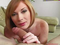 Allison Wyte dildoing herself and sucking a dick