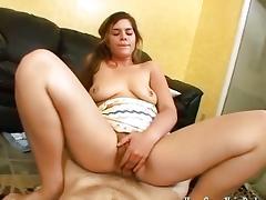 Cum on my hairy pussy