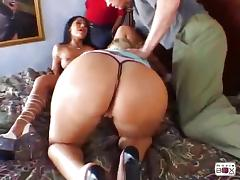 Lucky guy gets shared by his busty wife