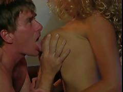 MILF gets her nipples and pussy sucked