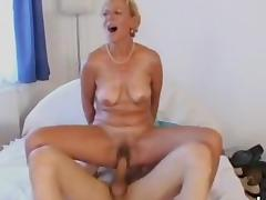 Mom and Boy, 18 19 Teens, Amateur, Blonde, Blowjob, Boobs