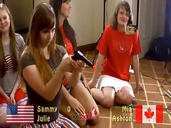 Strip dacunt americans julie and sammy vs canadians ashton and mia