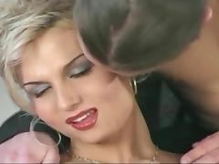 Posh Blonde ladyboy seduces teen