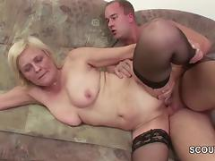 18yr old Young Boy Seduce Granny to get his first Fuck