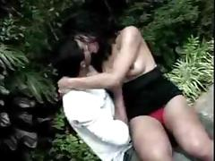 Outdoor Romping With Sultry Tranny