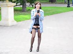 Exhibitionists, Exhibitionists, Flashing, Outdoor, Public, Stockings