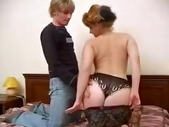 Busty mature woman is really into having sex in doggy position