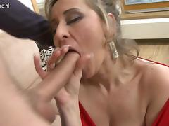 Sexy real stepmother fucking and sucking in POV style