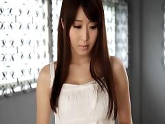 Beautiful Asian chick with big fabulous tits sucking a stranger's cock
