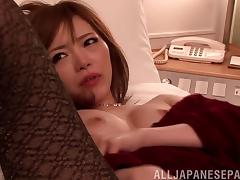 Orgasmic masturbation ahead of a pussy pounding action in pov