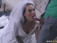 Bride to be in stockings receives an ass fucking from her lover