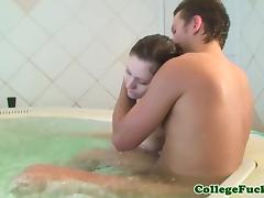 College teenager assfucking at spa