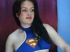 TS Supergirl Self Suck
