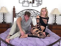 Amazing Natalia Starr moaning for sex in a live show