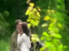 Voyeur captures a girl couple  having sex in nature