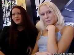 Lesbians pussy lick erotically while nailing their demanding pussies with a mammoth strapon