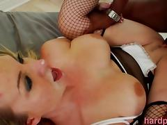 Sexy Blonde MILF Satisfied By Many BBC