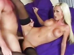 Nikki Benz gets humped on a sofa