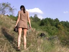 Flexible, Brunette, Flexible, Masturbation, Outdoor, Czech